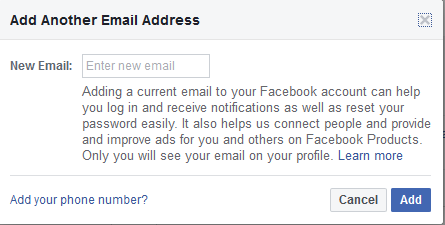 Facebook Ad Another Email