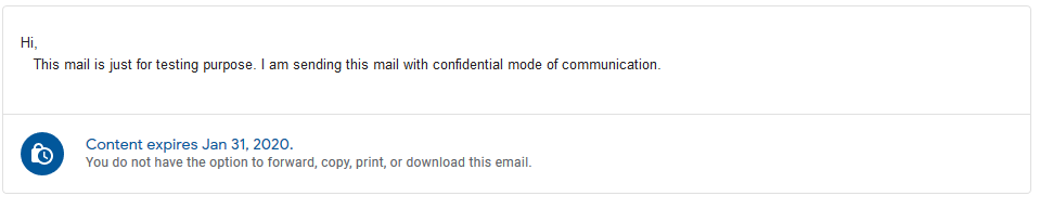 Gmail Confidential Mail Opened