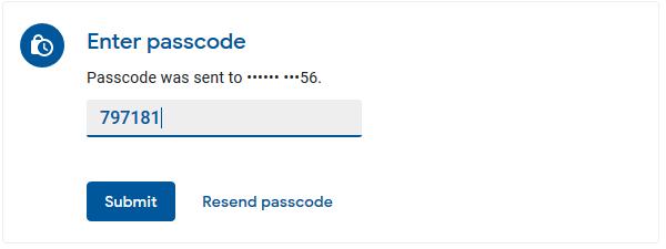 Gmail Passcode Verification