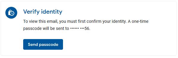 Gmail Verify Identity