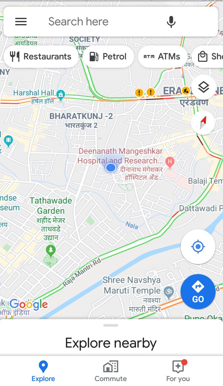 Open google map
