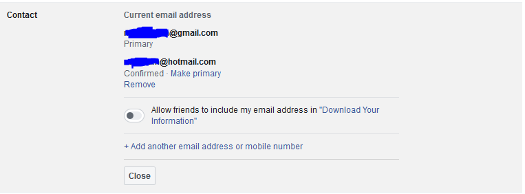 Two Email Account Added