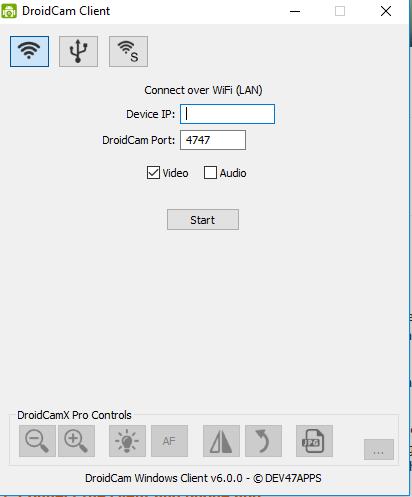 Droidcam Windows Client