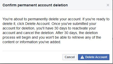 30 day time before deletion