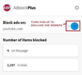 Adblock Plus Window