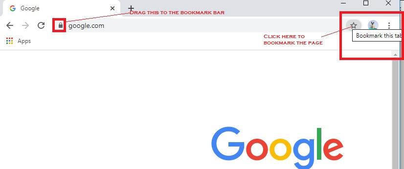 Boomark On Google Chrome