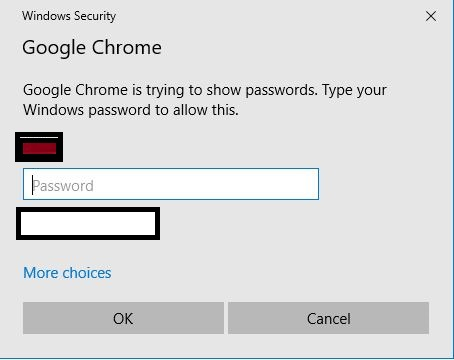 Chrome asking computers password
