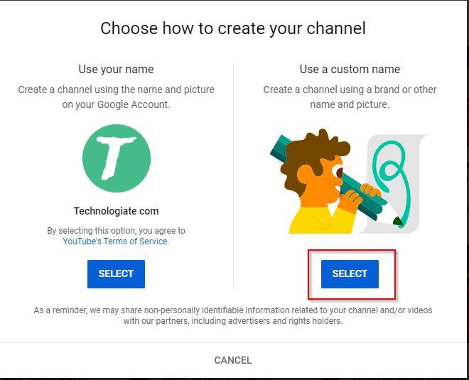Create Custom Name For Youtube Channel