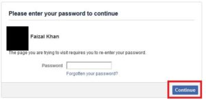 Facebook Asks For Password
