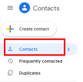 Gmail Contacts Click