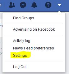 Go To Settings Page On Your Profile