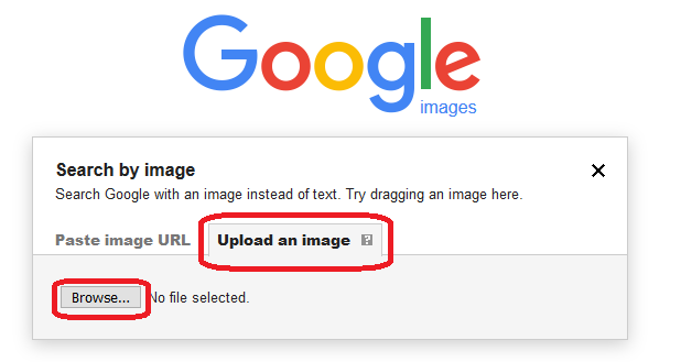 Google image search-upload an image