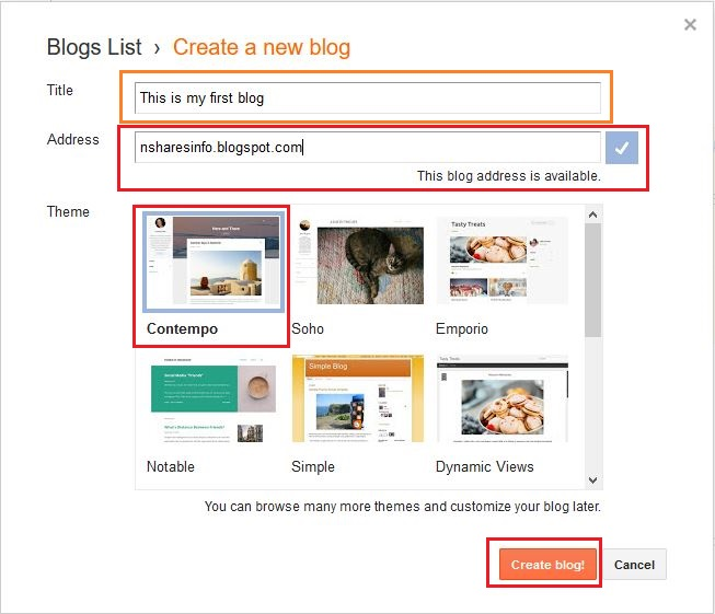 Make Blogger Title Domain And Theme Selection