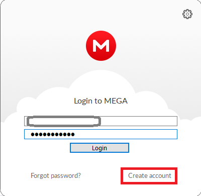 Mega Log in on desktop application