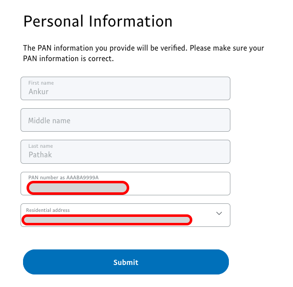 PayPal verify personal infomations