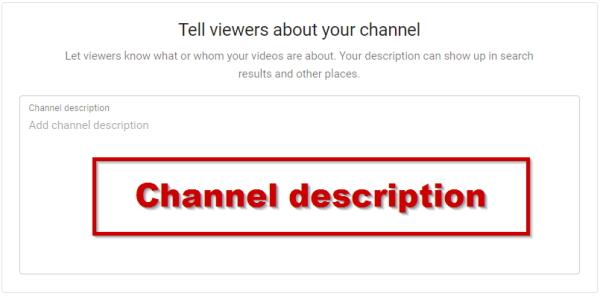 Youtube Channel Description