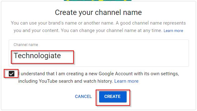 Youtube Naming The Channel