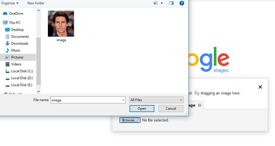 Goole Image Search File Upload