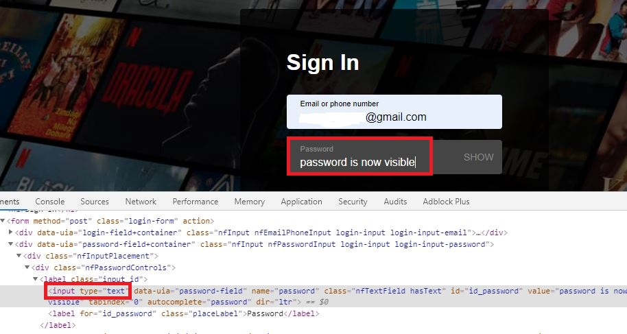 Password Is Now Visible