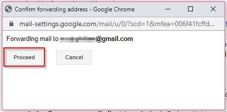 Confirm Email Forwarding