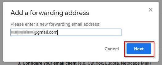 Enter Primary Gmail Id