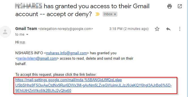 Gmail Accept Grant Access