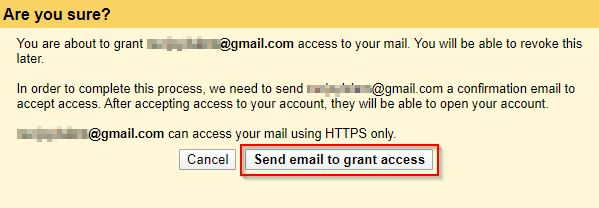 Gmail Confirmation To Grant Access