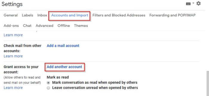 Grant Gmail Account Access To Another Gmail