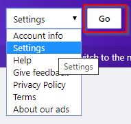 Settings On Yahoo Basic