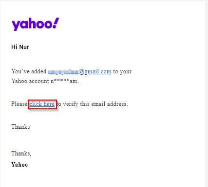 Verify Email Forwarding For Yahoo Mail