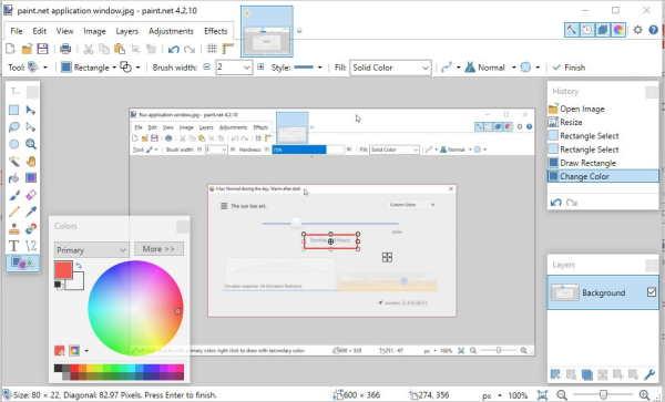 paint.net application window