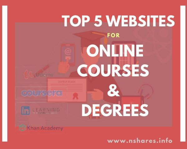 top 5 sites for online course