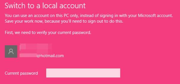 Enter Account Password