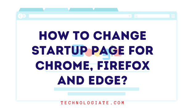 Change startup page