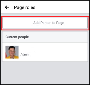 Add a person as admin on facebook page on app