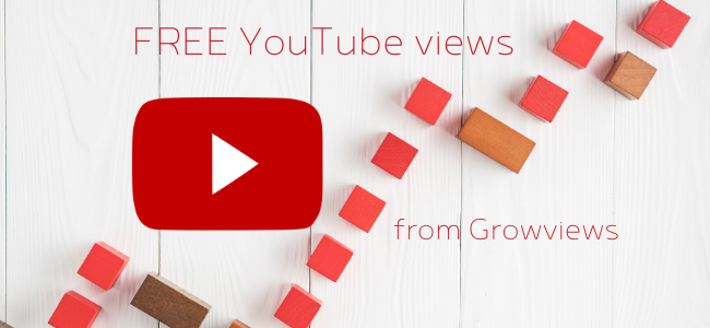 Get FREE YouTube views from Growviews