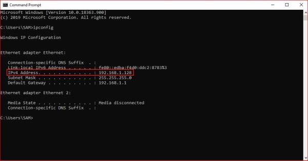 Get Ip Address For Windows Remote Desktop