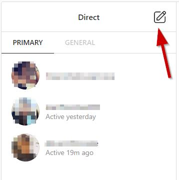 Instagram Select Contact To Send Dm