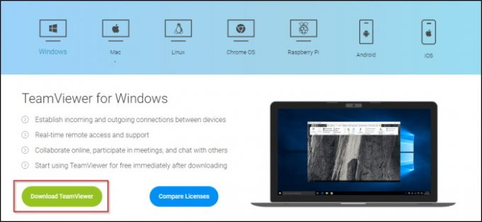 TeamViewer Download for different Operating systems e1593347341338