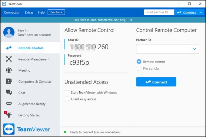Teamviewer Application Window