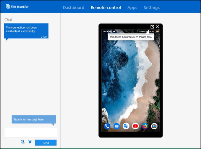 TeamViewer connnect mobile from PC