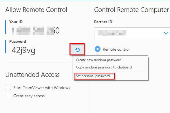 Teamviewer Permanent Password