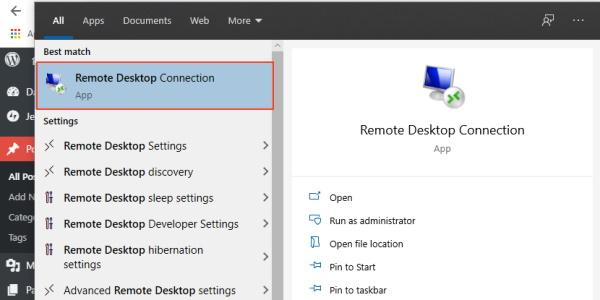 Windows Remote Desktop Client
