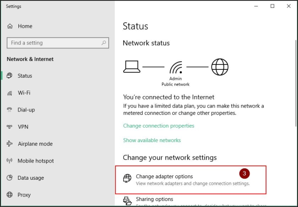 Change Adapter Options On Windows 10
