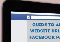 How do I add a website to my Facebook page