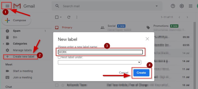 How To Create Folder In Gmail