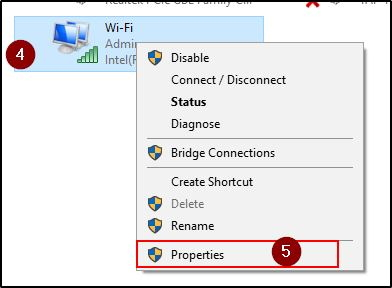 Network Properties Windows 10