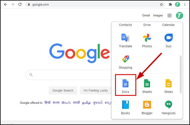 Open Google Doc From Google Homepage
