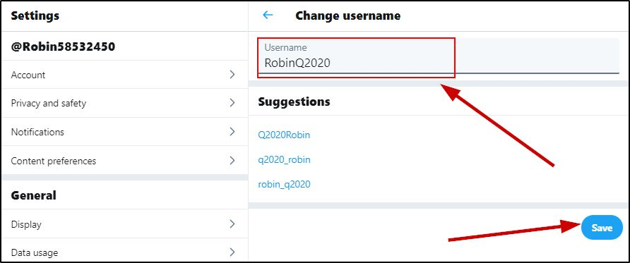 Twitter Change Handle On Desktop Browser