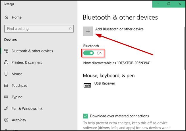 Add Bluetooth Or Other Device